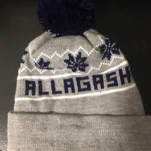 Gray and Navy Blue Allagash Winter Hat